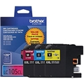 Brother (LC105) Super High Yield C/M/Y Ink Cartridge Combo Pack (3 x 1,200 Yield)