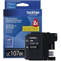 Brother (LC107BK) Super High Yield Black Ink Cartridge (1,200 Yield)