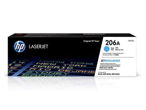 HP 206A Cyan Original LaserJet Toner Cartridge, W2111A