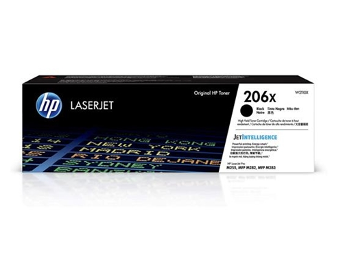 HP 206X High Yield Black Original LaserJet Toner Cartridge, W2110X