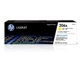 HP 206A Yellow Original LaserJet Toner Cartridge, W2112A
