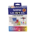 Brother (LC51) C/M/Y Ink Cartridge Combo Pack (3 x 400 Yield)