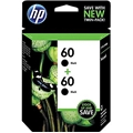 HP 60 (CZ071FN) 2-Pack Black Original Ink Cartridges (400 Yield)