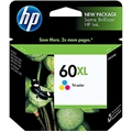 HP 60XL (CC644WN) High Yield Tri-Color Original Ink Cartridge (440 Yield)