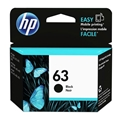 HP 63 (F6U62AN) Black Original Ink Cartridge (190 Yield)