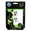 HP 63 (L0R46AN) Black/Tri-Color 2-Pack Original Ink Cartridges (190 Black, 165 Color Yield)