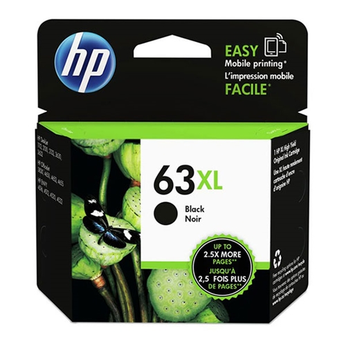 HP 63XL (F6U64AN) High Yield Black Original Ink Cartridge (480 Yield)