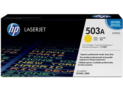 HP 503A (Q7582A) Yellow Original LaserJet Toner Cartridge (6,000 Yield)