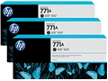 HP 771 Matte Black Inks, (3/Pack)