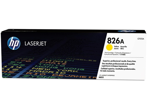HP 826A (CF312A) Yellow LaserJet Toner Cartridge (31,500 Yield)