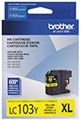 Brother (LC103Y) High Yield Yellow Ink Cartridge (600 Yield)