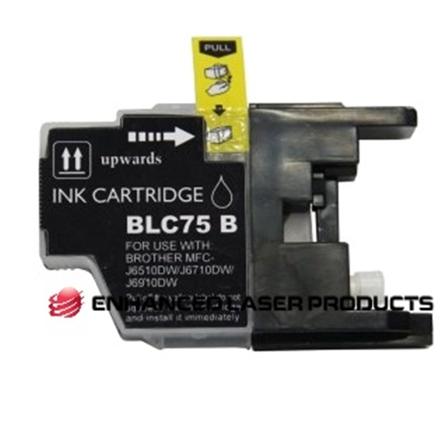 Compatible Brother (LC75BK) High Yield Black Ink Cartridge (600 Yield)