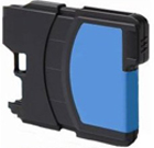 Compatible Brother (LC65HYC) High Yield Cyan Ink Cartridge (750 Yield)