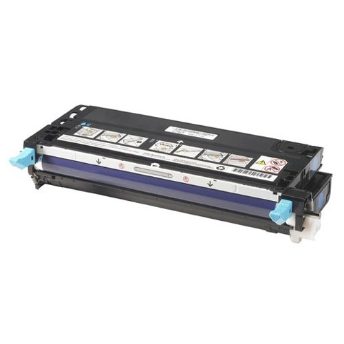 Dell 8,000 Page Cyan Toner Cartridge for Dell 3115cn Color Laser Printer