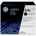 HP 64X (CC364XD) Black High Yield 2-pack Original LaserJet Toner Cartridges (2 x 24,000 Yield)