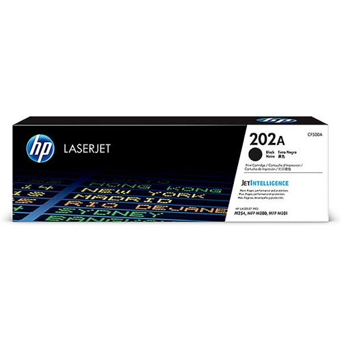 HP 202A (CF500A) Black Original LaserJet Toner Cartridge (1,400 Yield)