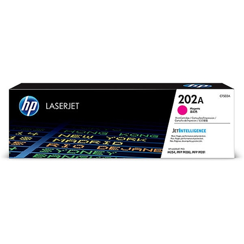 HP 202A (CF503A) Magenta Original LaserJet Toner Cartridge (1,300 Yield)