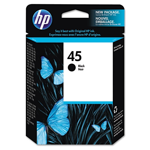 HP 45 (51645A) Black Original Ink Cartridge (930 Yield)
