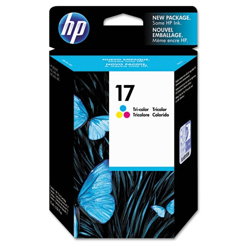 HP 17 (C6625A) Tri-Color Original Ink Cartridge (480 Yield)