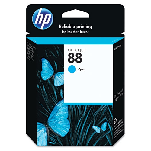 HP 88 (C9386AN) Cyan Original Ink Cartridge (860 Yield)