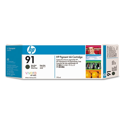 HP 91 (C9464A) Matte Black Original Pigment Ink Cartridge (775 ml)