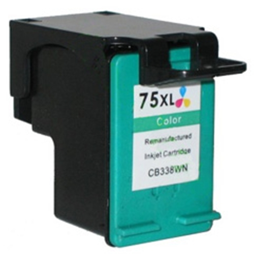 Compatible HP 75XL (CB338WN) High Yield Tri-Color Ink Cartridge (520 Yield)