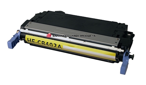 Compatible HP 642A (CB402A) Yellow LaserJet Toner Cartridge (7,500 Yield)