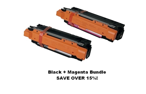 Compatible HP 504A Black/Magenta Bundle