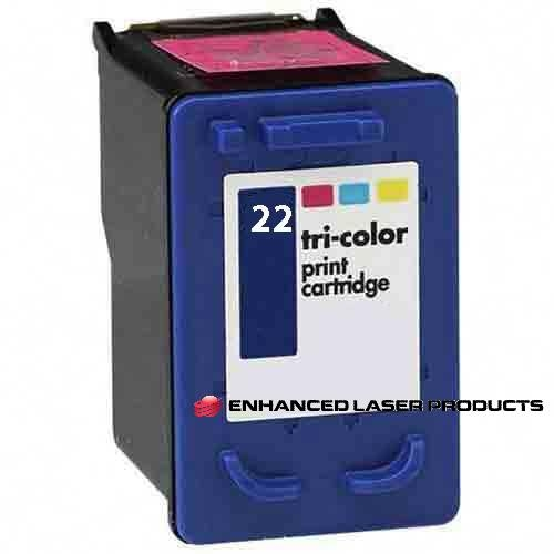 Compatible HP 22 (C9352AN) Tri-Color Original Ink Cartridge (165 Yield)