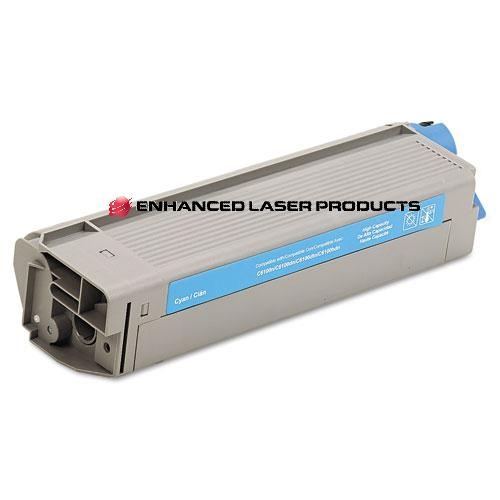 Compatible Oki 6100/C5550n Cyan Toner Cartridge,