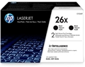 HP 26X (CF226XD) 2-Pack High Yield Black Original LaserJet Toner Cartridges (2 x 9,000 Yield)