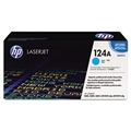 HP 124A (Q6001A) Cyan Original LaserJet Toner Cartridge (2,000 Yield)