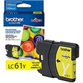 Brother (LC61Y) Yellow Ink Cartridge (325 Yield)