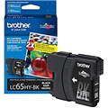 Brother (LC65HYBK) High Yield Black Ink Cartridge (900 Yield)